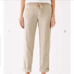 "J.Jill Easy Double Cloth Ankle Pants in ""Sea Salt"""